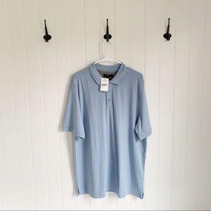 Nordstrom light Blue Short Sleeve Polo Top XL NWT